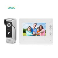 7 pouces sans fil / Smart WiFi IP vidéophone Interphone avec IR filaire Sonnette caméra, Soutien à distance déverrouiller