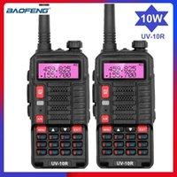 Walkie Talkie 2PCS Baofeng UV-10R 10W Talkies Update UV-5R HAM Радиопередача VHF / UHF BF UV10R USB зарядки портативный 2 способ
