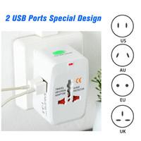Mundial universal lineales de fuerza del zócalo del enchufe adaptador convertidor USB AC adaptador de enchufe del cargador Internacional de Energía Eléctrica