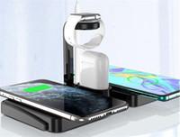 Kablosuz Şarj Standı 4 IN 1 Hızlı Şarj Dock İstasyonu Ile USB Kalem Slot Için Izle TWS Kulaklık Çift Cep Telefonları
