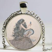 Кулон Ожерелья Русалка Ожерелье Dingyi 2021 Мода Круглые Стеклянные Мурано Подвески