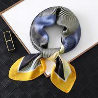 Bufandas 2021 mujeres seda bufanda cuadrado estampado de moda dama pelo foulard chal y envueltos femenino bandana pañuelo cuello diseño accesorios