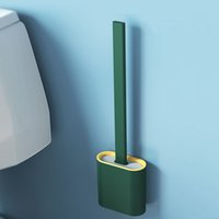 Escova portátil titular escova de escova criativa escovas de limpeza set toalete conjunto de titular do banheiro Durable Bathroom limpo ferramenta VTKY2386