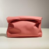 HBP конфеты цвет кожа маленькая группа кошелек личности ленивый повседневная керлинг ручной сумка верхний слой коровьей обед сумка женская мягкая сумка розовый