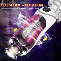 Full Automatic Pistone Telescopico rotazione maschio masturbatore tazza adulto sesso giocattoli vera vagina succhiare vibratore vivavoce macchina sessuale