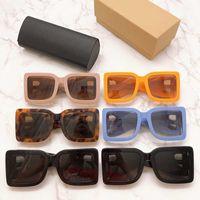 2020 nuovo progettista femminile stagione occhiali da sole piastra quadrata grandi doppie B lettera gambe stile semplice moda UV400 Occhiali BE4312 con box