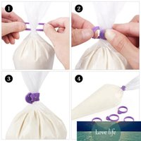 10 peças silicone saco de gelo gravatas anéis fixos diy acessórios de cozimento de silicone molde de silicone anel retorno sacos de massa laço de cabo cocina
