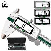 Zeast 디지털 스테인레스 스틸 캘리퍼스 150mm 6 인치 인치 / 미터 / 분수 변환 0.01mm 해상도 LCD 디스플레이 Box T200602