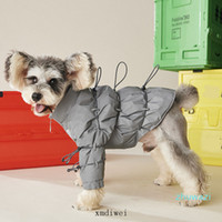 Chirstmas New Year Pet Down Jacket Grey Reflect Light Winter...