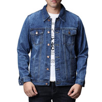 2021 Spring Autumn Winter Denim Jackets Vintage Outerwear Men Trucker Cotton Blue Jacket Slim Fit Scratches Coats Clothes,6011