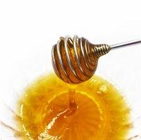 Vara mel aço inoxidável resistente Sticks mel Colher agitação Bar Swizzle para servir Xaropes geada chocolate derretido EEC2872