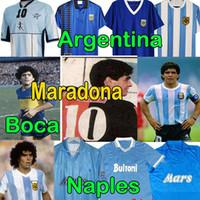 4XL 1986 Maradona Newells Jerseys de fútbol retro Napoli Maglia Camiseta Napoles Maillot Nápoles Maradona Men + Kits Kits Camisa de fútbol