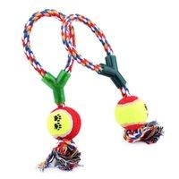 2021 جديد الكلب اللعب القطن حبل y كلمة واحدة الكرة الحيوانات الأليفة الكلب التدريب اللعب دائم الصغيرة أو كبيرة لعبة التنس شحن مجاني