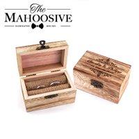 Персонализированные деревянные свадебные деревянные кольцевые коробки держатель пользовательских ваших имен и дата обручальная кольцевая коробка носителя