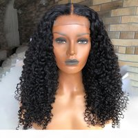 Parrucca riccia viziosa 13x6 parrucche anteriori del merletto parrucche dei capelli umani precipitato remy capelli brasiliani 180 densità Top parrucca di seta in pizzo parrucca frontale