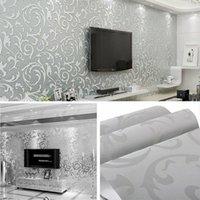 Vliesmode dünn flocking vertikale streifen wallpaper für wohnzimmer sofa hintergrund wände home tapete 3d silber1