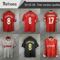 1989 2005 2008 2008 الرجعية Soccer Jersey 8 # Gerrard 09 10 Retro Home 11 # Smicer 16 # Hamann 9 # Cisse الرجعية قميص كرة القدم الكلاسيكية
