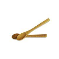 بيع 13.5 * 2.3 سنتيمتر مقبض طويل خشبي ملعقة مربى القهوة الطفل العسل الخيزران ملعقة مصغرة المطبخ تحريك التوابل أداة مطبخ أداة CCE4191