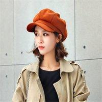 Newsboy Caps Femmes Newsboy Cap octogonal Baker Peaked Beret Chapeau de conduite Femme antisolaires chapeaux peintre casquette tour