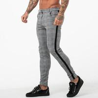 Männer Casual Hosen Joggers Sweatpants Frühling Plaid Hose Bottom Mode Tight Männliche dünne Hose Büro Jogger Hosen