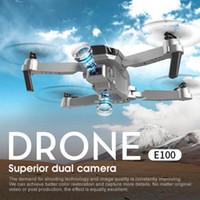 E100 FPV Drone HD 4K Двойная камера с Wi-Fi RC Складной Quadcopter RC Quadcopter Профессиональные складные дроны