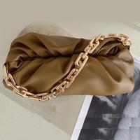 Nova Chegada Famoso Designer Marca Soft Genuine Ladies Bolsa Bolsa Com Big Metal Chain Messenger Hand Bag para Mulheres Handbagstore888