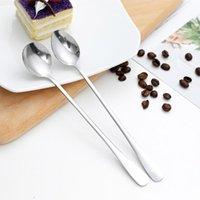 Aihogard Высокое качество 19см из нержавеющей стали кофе чай из нержавеющей стали перемешивание ложки ледяной десерт ложка кухонные посуды ложки HLLEZN