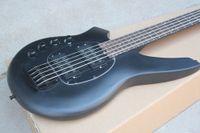 공장 사용자 정의 매트 블랙 5-String 왼손잡이 전기베이스 기타, 블랙 하드웨어, 로즈 우드 프리 보드, 맞춤형 제안
