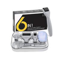 6 في 1 ديرما عدة الأسطوانة للوجه والجسم - 0.25mm و0.3MM مايكرو إبرة Dermaroller مع 5 رؤساء استبدال حالة التخزين