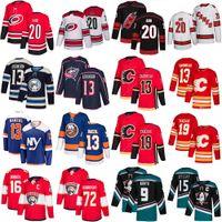 20 Sebastian Aho 86 Teravainen 9 Paul Kariya 15 Ryan Getzlaf 16 Barkov 72 Bobrovsky 13 Atkinson Barzal Gaudreau 19 Tkachuk Hockey Jerseys