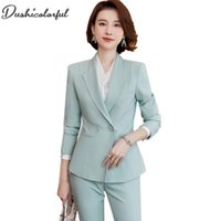 Women Elegant Jacket Long Sleeve Notched Blazer Fashion Work...