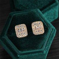 Мужские Женщины Мода Серьги Серьги Золото Серебряный Цвет Блинг CZ Отплавок Серьги Спенса Для Мужчин Женщины Приятный подарок