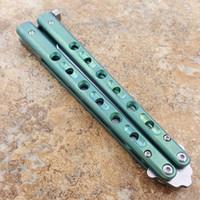 Flytanium BM62 D2 Blade Mango de titanio Traisor de mariposa Cuchillo de entrenamiento No Sharp Crafts Colección de artes marciales KNVIES Regalo de Navidad