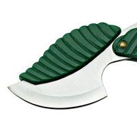 Verde Mini Função Dobrável Faca de Folha Forma Estilo Keychain Faca Acampamento Função De Fruta Camping Caminhada Ferramenta Sobrevivência GGB2254