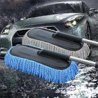 Voiture spéciale cire de remorquage nettoyage tweezers tweezers cheveux molles eau rétractable poignée longue poignée de poussière dust voiture wash pinceau 201214