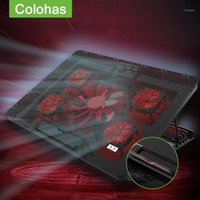 Вентиляторы Ноутбук Охладитель Охлаждающий Pad USB 2.0 Стенд с шелковым дизайном для печати для 12-17 дюймов ноутбуков Поддержка1 Pads