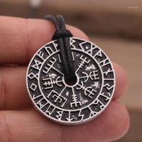 Zincirler Nostalji 10 adet Viking Odin Sembol Norse Ruiç Kolye Runes Takı Kolye Erkekler Vegvisir Pusula Amulet Talisman1