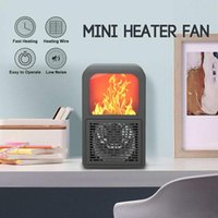 Electric Heater Mini Fan Heater Desktop Ultra- quiet Warm Fan...