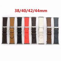 Новый дизайн кожаный ремешок для Apple Watch Band Series 6 5 4 3 2 40 мм 44 мм 38 мм 42 мм браслет для пояса iWatch