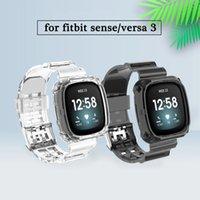 Siames Temizle Bant Durumda Fitbit Versa 3 Şeffaf Bilezik Fitbit Sense Versa 3 Kayış Yedek Plastik Döngü Kordonlu Saati Aksesuarları