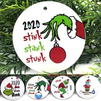 2020 apestaba hedor apestaba máscara del partido de Navidad Decoración de Santa Claus con la cara colgando colgante de Navidad del regalo del árbol ornamento personalizado K987