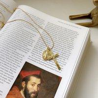 Peri'sBox 925 Sterling Sliver Virgin Mary Jesus Pendant Necklaces Minimalist Cross Chokers Layering Necklaces for Women Bijoux Q0531