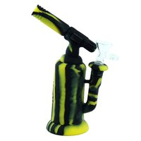 glass water pipe Torch dab rig 7.6'' glass bongs silicone bong tobacco bubbler dry herb hookah