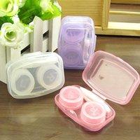 플라스틱 휴대용 아름다운 학생 상자 컴팩트 결합 된 양면 상자 화이트 퍼플 투명 콘택트 렌즈 케이스 뜨거운 판매 0 8HQ J2