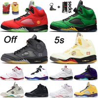 nike air jordan retro 5 5s off white Nuovo JUMPMAN 5 5s 2021 Sail Alternate Grape Black Muslin White Basketball Shoes SE Oregon Off Men WHAT THE Retro Trainers Sport Sneakers