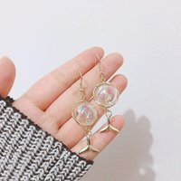 استرخى الثريا الأصل اليدوية الصابون فقاعة حورية البحر أقراط الكورية للنساء 2021 الساحرة الزجاج الكرة إسقاط مجوهرات bjioux1