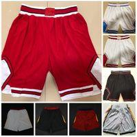 Pantalones cortos de baloncesto Blanco rojo Vintage Vintage Pantalones transpirables Sweypants Shorts Classic City Steinsted