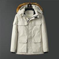 Top della linea Canada del marchio Mens Giù parka sport bianco carica giacca piumino caldo di inverno business casual piumino plus-size uomo