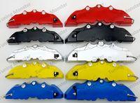 무료 배송 4 PCS BREM 자동차 자동 디스크 브레이크 브레이크 캘리퍼 커버가 3D 단어 유니버설 키트가 17 인치 2 중간 및 2 개의 작은 RED1