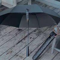 Novo clássico preto longo guarda-chuva dobrável para mulheres dobra de verão moda guarda-chuva chuva guarda-chuva presente vip com caso de presente do caso pu